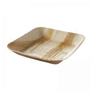 Assiette carré palmier (24x24cm) / Par 25