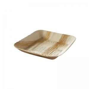 Assiette carré palmier (17x17cm) / Par 25