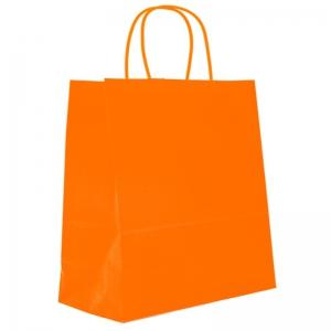 Sac cabas orange poignée ficelle (35x14x40cm) / Par 50