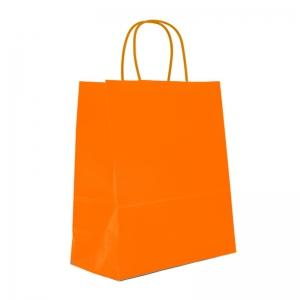 Sac cabas orange poignée ficelle (23x12x30cm) / Par 50