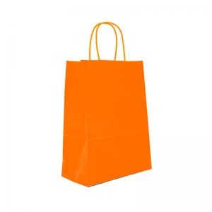 Sac cabas orange poignée ficelle (18x8x22cm) / Par 50