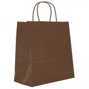Sac cabas chocolat poignée ficelle (35x14x40cm) / Par 50