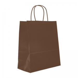 Sac cabas chocolat poignée ficelle (23x12x30cm) / Par 50