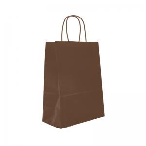 Sac cabas chocolat poignée ficelle (18x8x22cm) / Par 50