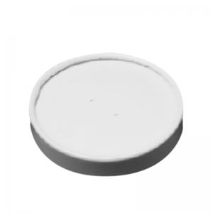 Couvercle carton pour pot en carton blanc 23cl et 30cl / Par 25
