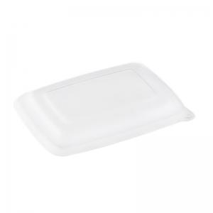 Couvercle RPET pour barquette rectangle Bagasse (600 et 950ml) / Par 300
