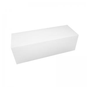 Boîte à buche carton blanc 40x11x10cm / Par 25