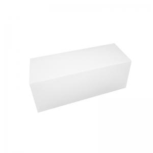 Boîte à buche carton blanc 35x11x10cm / Par 25
