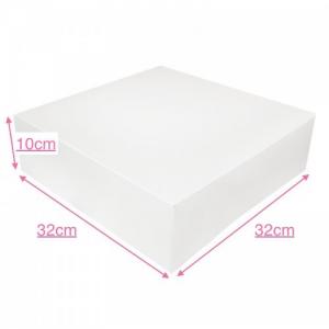 Boîte à gâteau carton blanc, 32x10cm / Par 50