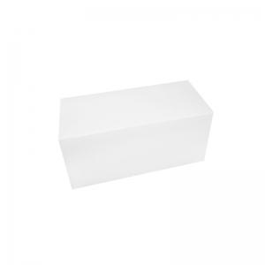 Boîte à buche carton blanc 25x11x10cm / Par 25