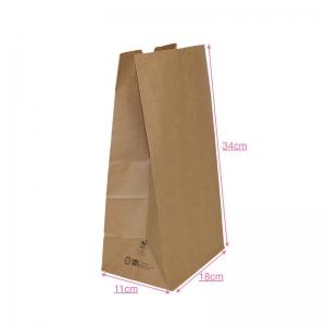 Sac collecteur kraft brun 18x11x34cm (sos) / Par 500