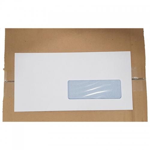 Enveloppe Blanche Avec Fenêtre 110x220mm Par 500
