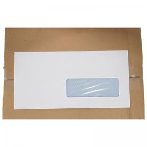 Enveloppe blanche avec fenêtre (11x22cm) / Par 500
