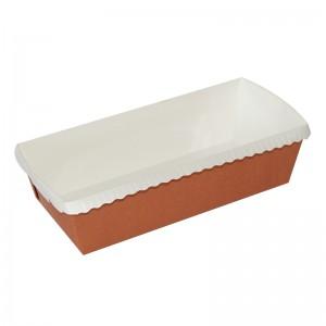 Moule cuisson rectangulaire marron,165x65x45mm
