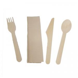 Kit couverts bois (4 éléments) / Par 100