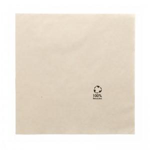 Serviette en papier marron recyclé 40x40cm (2 plis) / Par 100