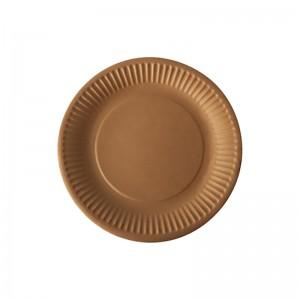Assiette ronde carton brun (19cm) / Par 100
