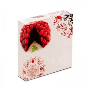 Boîte à gâteau carton blanc, (rose) 23x5cm / Par 50