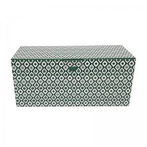 Boîte à bûche décorée 25x11x11cm New line