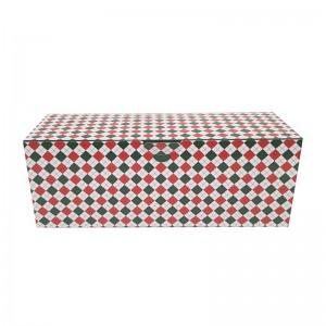 Boîte à bûche décorée 30x11x11cm New line