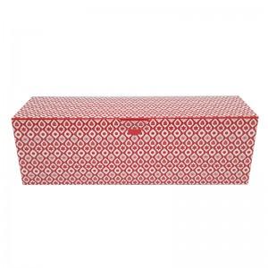 Boîte à bûche décorée 35x11x11cm (New line)