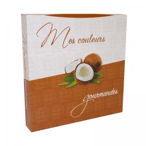 Boite à gâteau carton blanc, couleur marron, 33x5cm