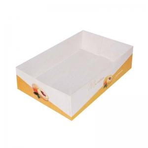 Boîte à gâteau sans couvercle (Caissette pâtissière), couleur orange, 20x13x5cm / Par 100