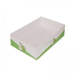 Boîte à gâteau sans couvercle (Caissette pâtissière), couleur vert, 18x12x5cm / Par 100