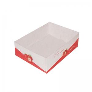 Boîte à gâteau sans couvercle (Caissette pâtissière), couleur rouge, 16x12x5cm / Par 100
