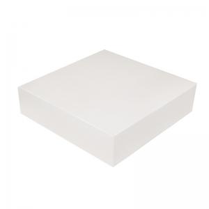 Boîte à gâteau carton blanc, 18x5cm / Par 50