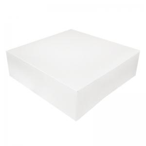 Boîte à gâteau carton blanc 25x8cm / Par 50