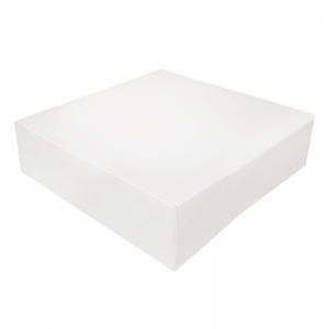 Boîte à gâteau carton blanc 28x8cm / Par 50