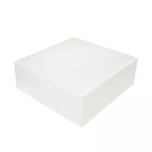 Boîte à gâteau carton blanc 26x10cm / Par 50