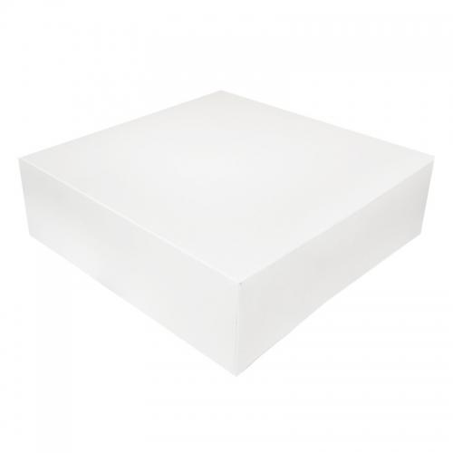 Boîte à gâteau carton blanc, 36x10cm / Par 25