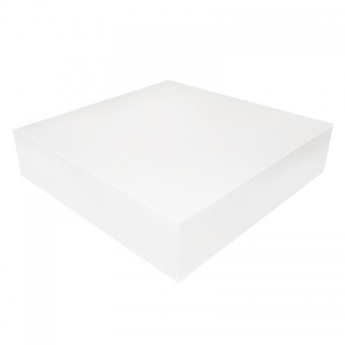 Boîte à gâteau carton blanc, 40x10cm / Par 25